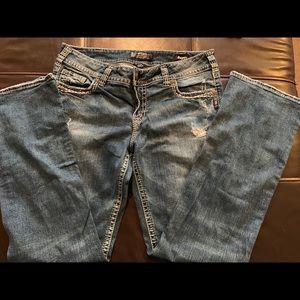 Buckle Silver SUKI Jeans / Super Stretch